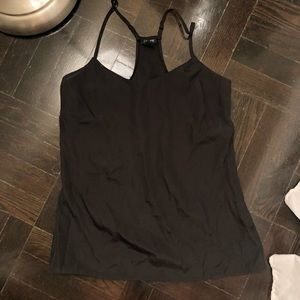 J crew black silk tank blouse 00